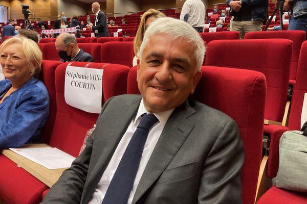 Hervé Morin quelques minutes avant d'être réélu pour un nouveau mandat de près de 7 ans.