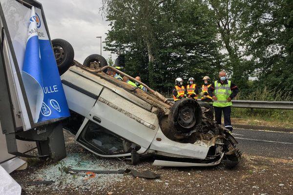 L'accident est survenu devant le centre de secours de Brive-la-Gaillarde