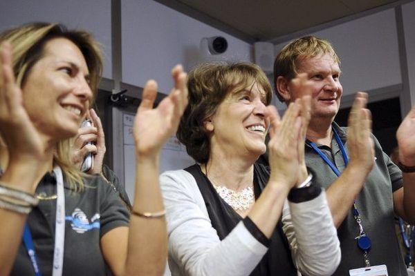 La joie des scientifiques au CNES à Toulouse