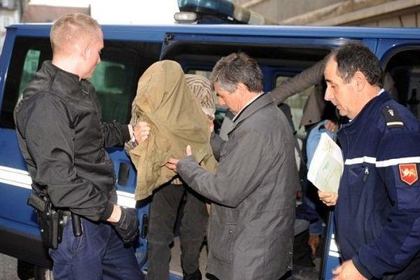 Jérémy Rimbaud après son arrestation.