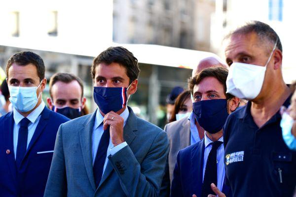 Le porte-parole du gouvernement était en visite d'inspection à Marseille ce lundi 17 août.