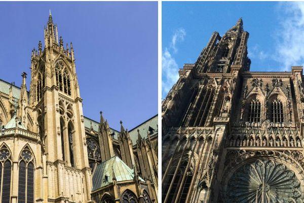 Cathédrale de Metz et Strasbourg