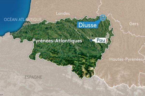 Le tragique accident est survenu à Diusse, dans les Pyrénées-Atlantiques, ce samedi 19 octobre.