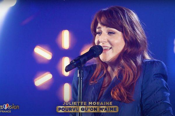 Samedi soir, Juliette Moraine tentera de convaincre le public et le jury avec sa chanson, Pourvu qu'on m'aime afin de tenter de décrocher son ticket pour la finale de l'Eurovision.
