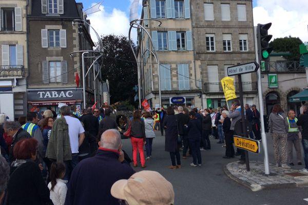 Nouvelle mobilisation des GM&S place Bonnyaud à Guéret