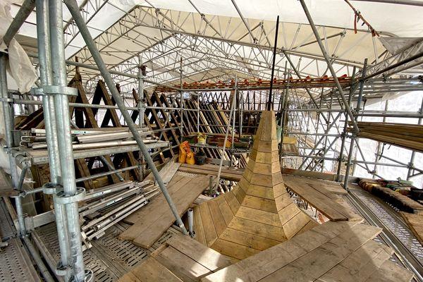 La rénovation de la charpente du Koïfhus.
