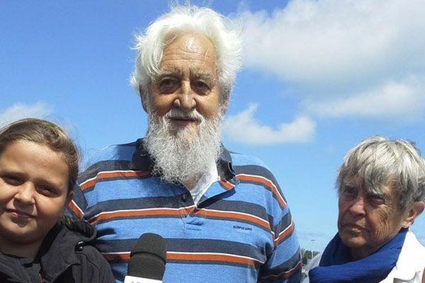 Les parents d'Yvan Bourgnon ce mardi à Ouistreham