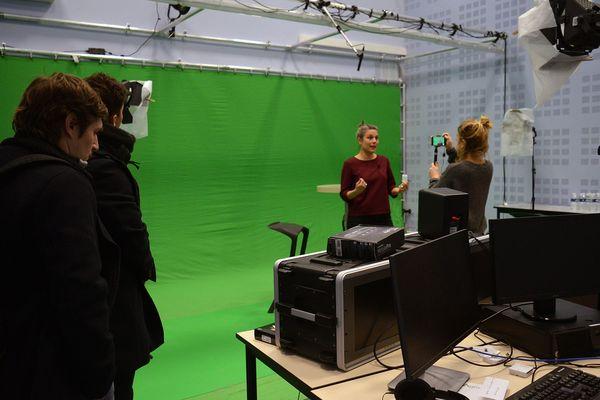 Le studio dans lequel les vidéos des modules du MOOC ont été enregistrées à  Montpellier SupAgro