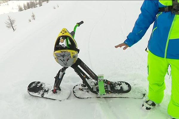 Le snowscoot, une discipline encore peu connue en France