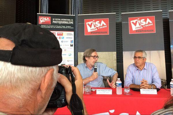 La conférence de presse Visa pour l'image  le 29 août 2017