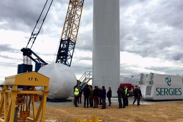 Le chantier du parc éolien de la Chapelle-Montreuil dans la Vienne
