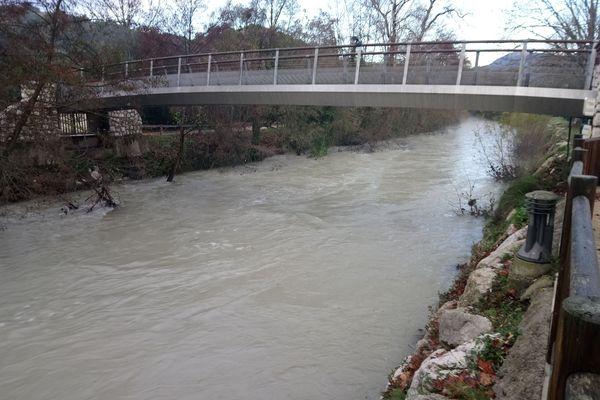 Le Loup, fleuve des Alpes-Maritimes ce mardi 12 décembre
