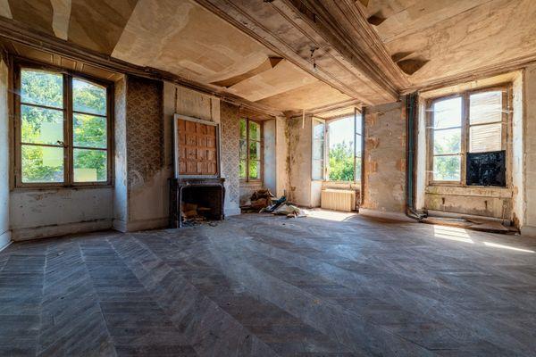 L'intérieur du chateau de Lalacelle