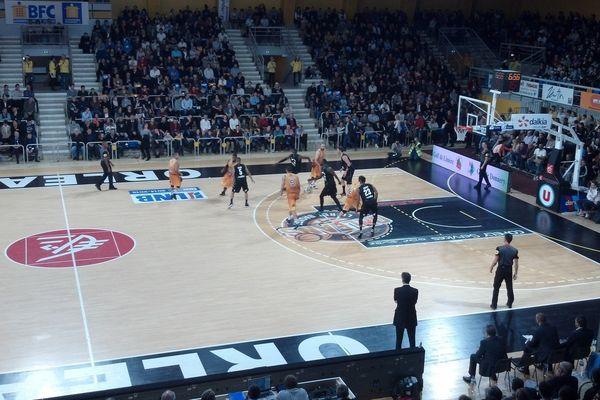 Mardi 23 décembre, lors du match face à l'Asvel au Palais des sports d'Orléans.