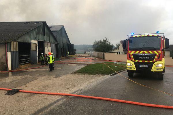 Les pompiers ont dû préserver la zone pavillonnaire située à proximité de l'incendie
