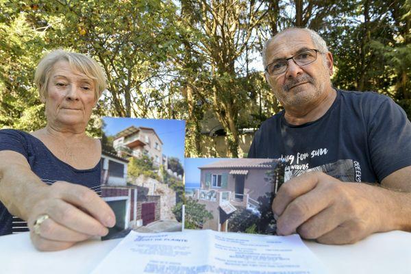 Marie-Thérèse et Henri Kaloustian, le couple de retraités propriétaires de la maison de Théoule-sur-Mer (Alpes-Maritimes) est épuisé par son combat médiatique et judiciaire.
