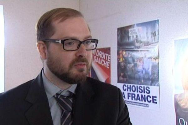 Matthieu Colombier, tête de liste du Rassemblement Bleu Marine à Châteauroux (Indre)
