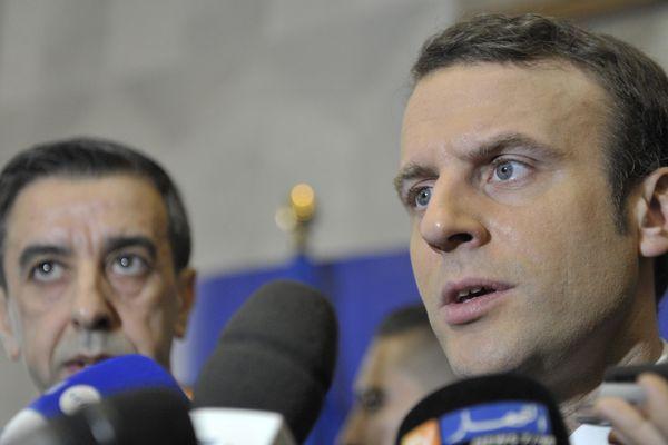 Emmanuel Macron lors de son déplacement en Algérie ou il a qualifié la colonisation de crime contre l'humanité.