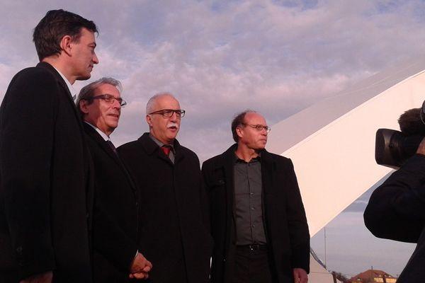 Les maires de Strasbourg et Kehl réunis en début d'après midi sur le nouveau pont