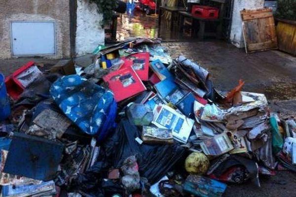 Au lendemain des inondations dans les rues d'Olbia, commune du nord de la Sardaigne