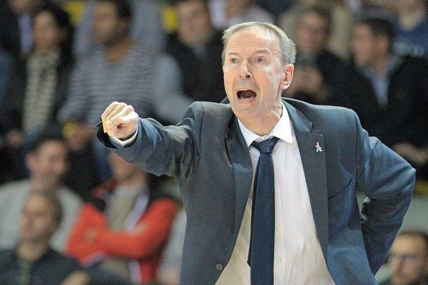 Vincent Collet, entraîneur de la SIG Strasbourg