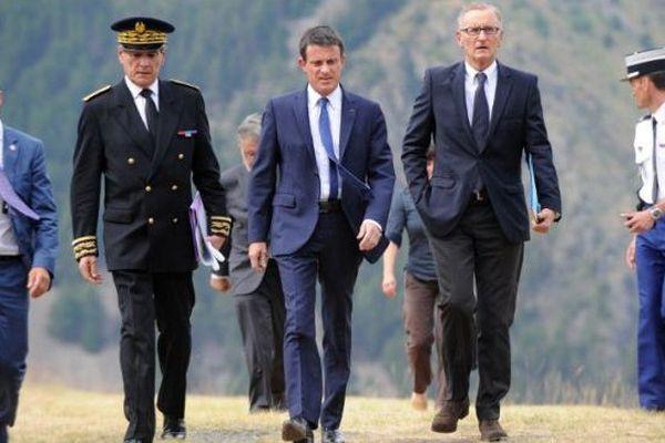 Manuel Valls au Chambon - juillet 2015