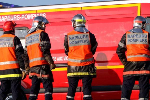 Une quinzaine de pompiers a été déployée sur le site de l'effondrement. (image d'illustration)