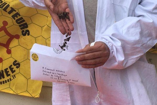 Des cadavres d'abeilles envoyés au Président et à ses ministres.