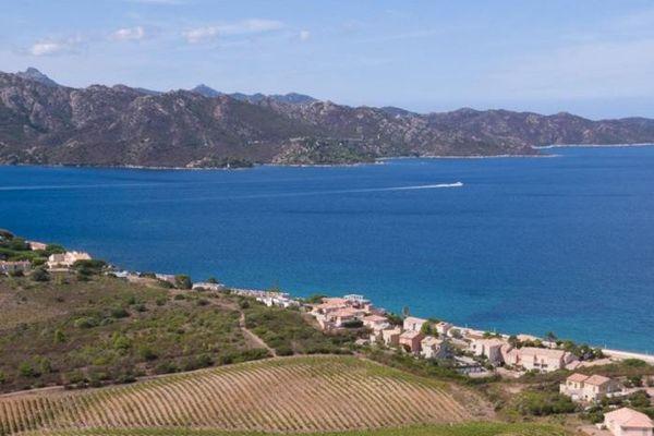 Le domaine Orenga de Gaffory borde les rivages du Golfe de Saint-Florent.