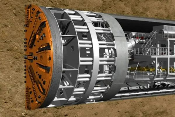 Image virtuelle du tunnelier Elaine
