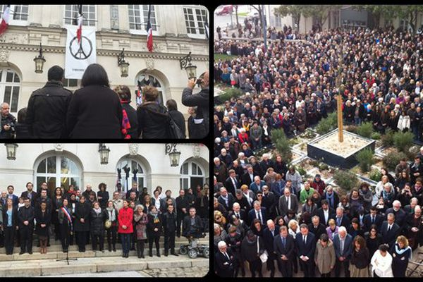 Une minute de silence a été observée ce midi en hommage aux victimes des attentats de Paris