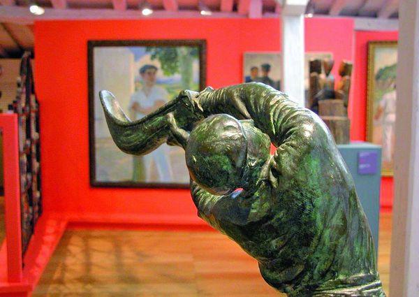 Peintures et sculptures au musée basque