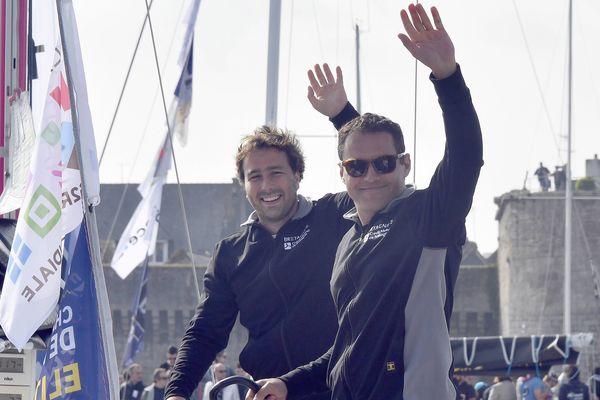 Pierre Rhimbault et Romain Attanasio, sur CMB espoir, au départ de Concarneau
