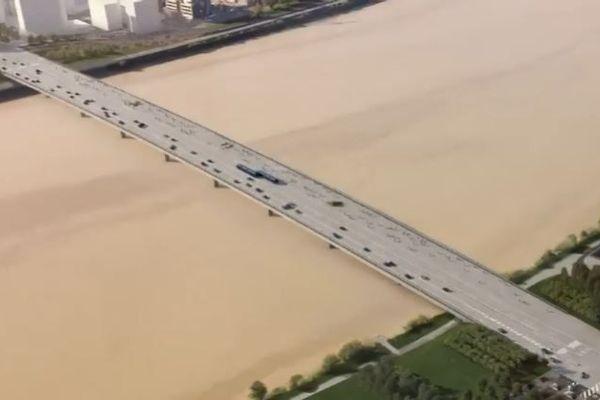 Le futur pont Simone Veil imaginé par l'agence OMA Rem Koolhaas - Clément Blanchet architectes