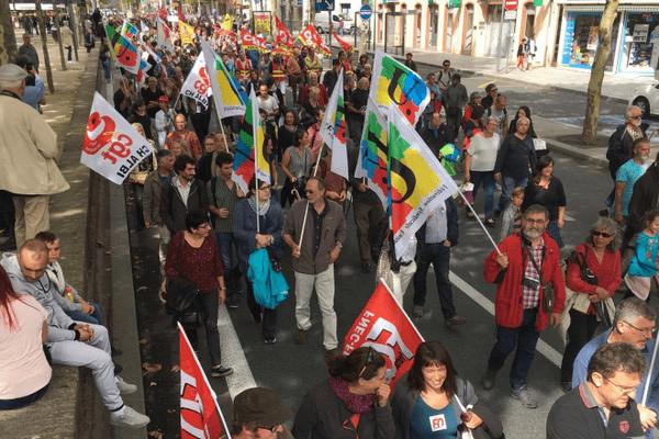 Les manifestants à Albi