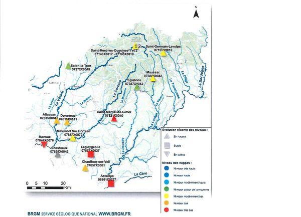 Bilan au 23 octobre sur la situation des ressources en eau dans le département de la Corrèze