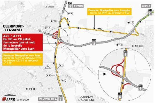 Jusqu'au 24 juillet, des fermetures sont programmées sur l'A75.