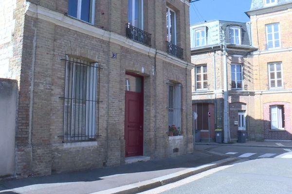 La maison du 2 Place de la poissonnerie à Elbeuf où le meurtre a eu lieu le 13 septembre 2020