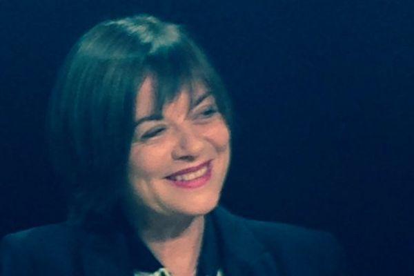 Marie Ferranti sur le plateau de Via Cultura le 18 octobre 2013