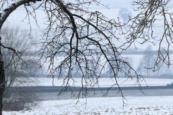 Le Bas-Rhin est touché par la neige et le verglas, le 8 janvier 2017
