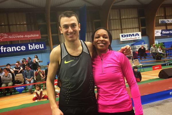 Stanley Joseph et Maria-Leonor Ribeiro Tavares, les deux vainqueurs de la soirée.