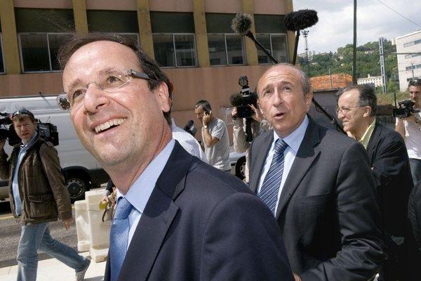 Francois Hollande et Gérard Collomb avant l'élection présidentielle