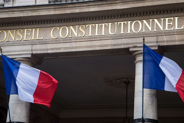Le Conseil constitutionnel à Paris.