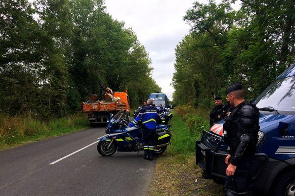 300 gendarmes évacuent des squats à Notre-Dame-des-Landes sur des terrains appartenant au département de la Loire-Atlantique ce jeudi 16 juillet 2020