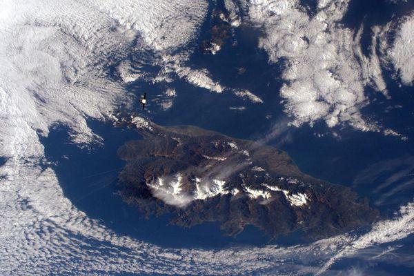 la Corse vue de l'espace depuis la station spatiale depuis l'ISS