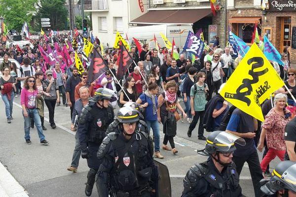Le 28 juin, un millier d'opposants à la loi Travail ont défilé à Rennes, sous forte escorte policière, la mobilisation sera-t-elle aussi forte ce jeudi ?