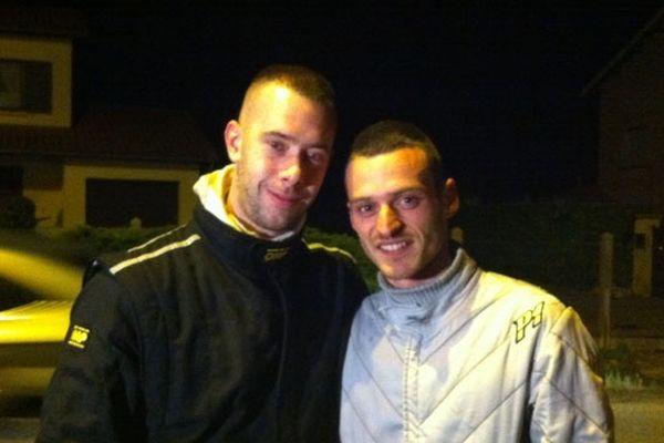 Thierry Le Van (à droite sur la photo) et  Florian Gerrifaux, vainqueurs du rallye des vignes 2013.