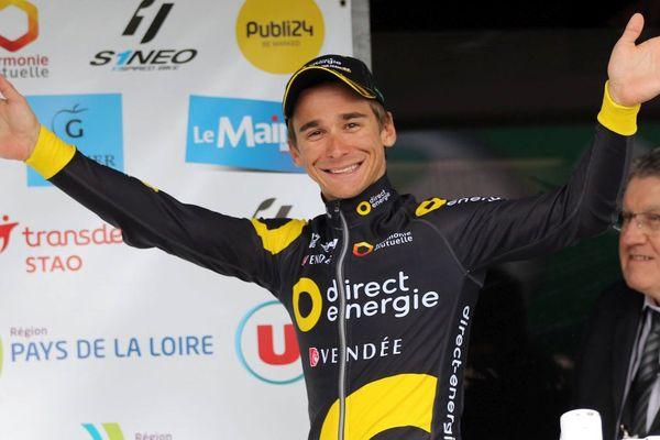 Bryan Coquard sera le leader de la nouvelle équipe Vital Concept, ici lors de la 65e edition du Circuit Cycliste Sarthe - 4 avril 2017