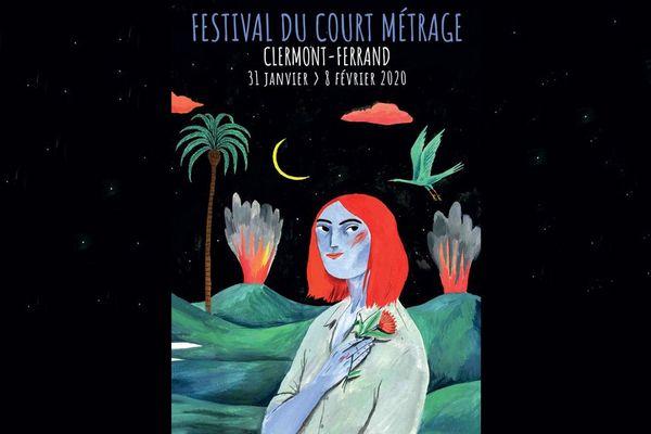 L'affiche de l'édition 2020 du Festival du court-métrage de Clermont-Ferrand a été conçue par l'illustratrice portugaise Susa Monteiro.