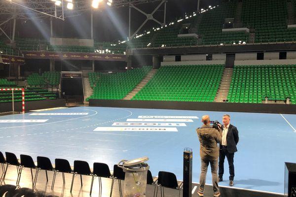 La salle du H Arena de Nantes, le 12 Mars 2020
